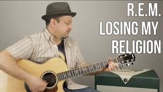 "How to Play ""Losing My Religion"" by R.E.M. on Guitar - Super Easy Acoustic"