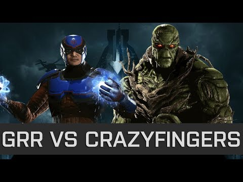 Injustice 2 - High Level FT10 - Grr (Atom) vs CrazyFingers (Swamp Thing)