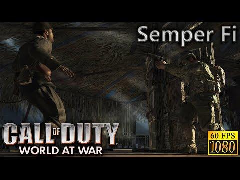 "Call Of Duty: World At War. Part 1 ""Semper Fi"" [HD 1080p 60fps]"