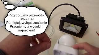 Jak podłączyć czujnik ruchu PIR z naświetlaczem LED wroled.pl