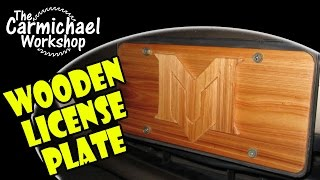 Create A Wooden License Plate For A Car, Truck, Boat, Bike - Easy Diy Intarsia Project