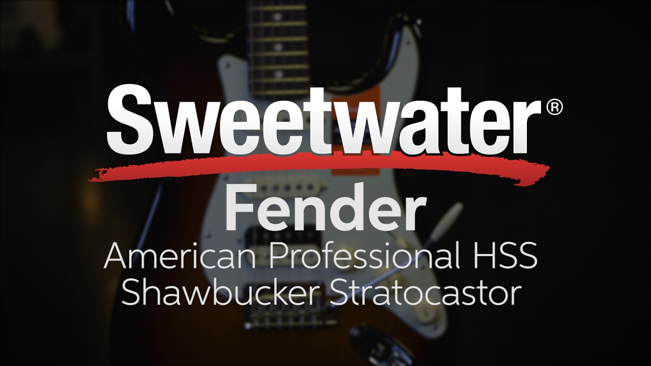 fender american professional hss shawbucker stratocaster olympic white w maple fingerboard sweetwater [ 1280 x 720 Pixel ]