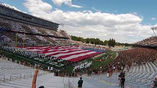 National Anthem Flyover CSU Football Ft. Collins First Game