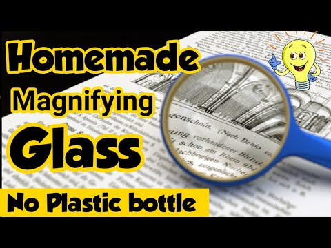 Diy Magnifying Glass How To Make Magnifying Glass Without Plastic Bottle Homemade Magnifying Glass Youtube