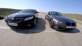 Камри 3.5 vs  BMW 330 (272)л/с !!!  Уставшая '' Ракета '' !!!