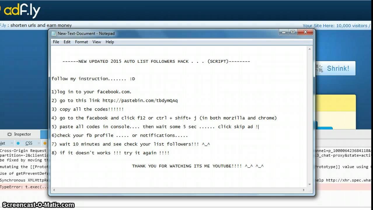 facebook hackleme scripti