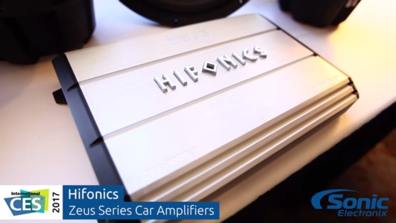 Hifonics Zeus Series Car Audio Amplifiers Ces 2017 Youtube Subwoofers At Sonic Electronix 2016 Release Date