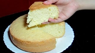 Sponge Cake without Oven - Basic Soft Sponge Cake - Pressure Cooker Sponge Cake Recipe