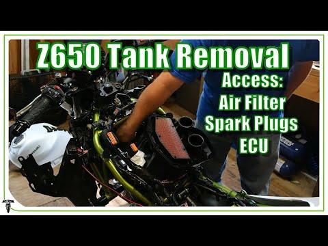 Kawasaki Z650 Tank and Airbox Removal | Blockoff Plate Install