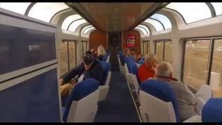 California Zephyr Amtrak train - All aboard for a brief tour [Binaural audio - Use Headphones]