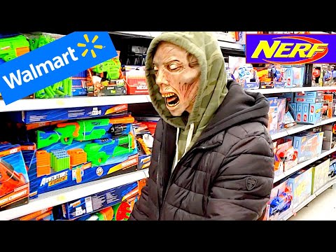 ZOMBIE SHOPS AT WALMART For Nerf Blaster!