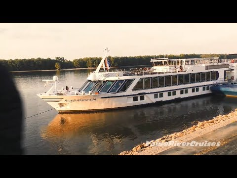 River Navigator Cruise Ship Along The Danube River