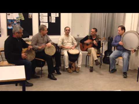 Improvisation music with Guitar, Tonbak, Afrikans drum and Daf in Denmark