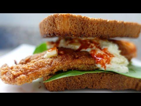 Hot Fried Fish Sandwich   Fried Catfish   Tarter Sauce From Scratch