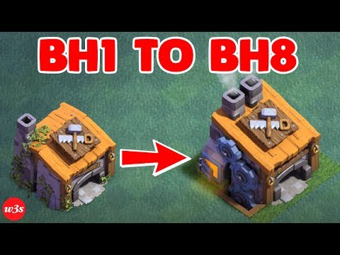 Thumbnail: New COC Builder Hall 1 To Builder Hall 8 Max Within 20 Minutes 2017