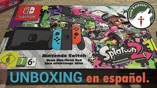 Unboxing PIPERO de Nintendo Switch edición Splatoon 2 en español.