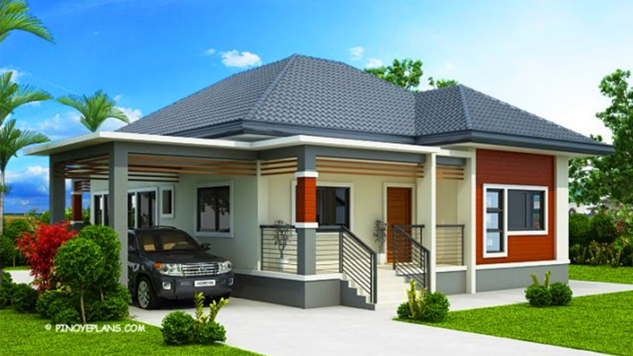 5 most beautiful house designs with layout and estimated cost youtube for Home design philippines small area