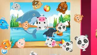 Развивающий мультик пазл для детей - собери животных