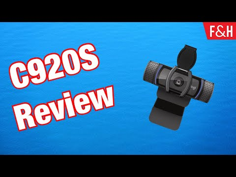 Logitech C920S HD Pro Webcam Review & Test 2019