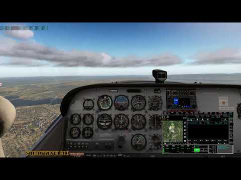 X-Plane 11 Tour of Norway and Fight Plan software at the end.