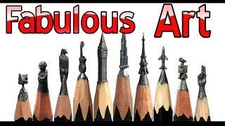 Graphite Pencil Artist - Realistic Carving Pencil Art ! Original Artwork !