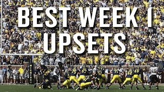 The Best Opening Week College Football UpsetsEver (Daily Win)