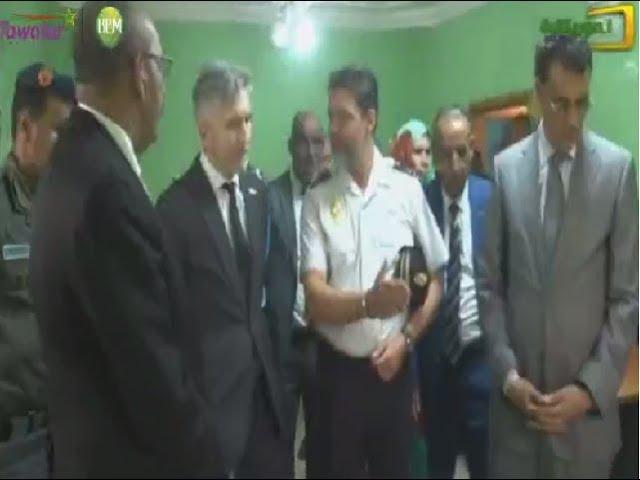 زيارة وزير الداخلية الإسباني لمقر الشرطة المشتركة بين بلادنا و اسبانيا في نواذيبو   قناة الموريتانية