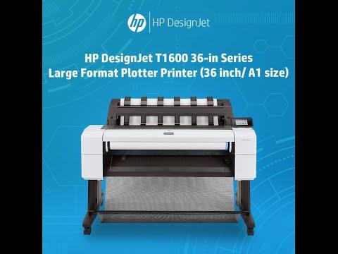 HP DesignJet T1600 36-in POSTSCRIPT Large Format Plotter Printer ...
