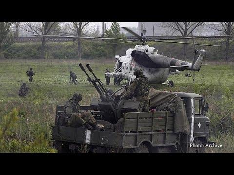 Ukranian military plane 'shot down'