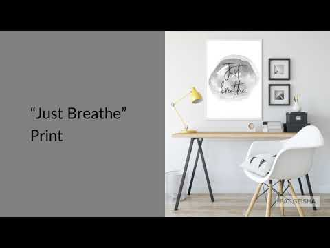 Yoga Prints: Just Breathe