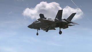 British pilots fly new F-35 stealth fighter jet in America