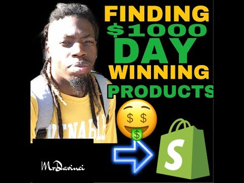 How I Find $1000/day Winning Products For Shopify Dropshipping (Product Research) thumbnail