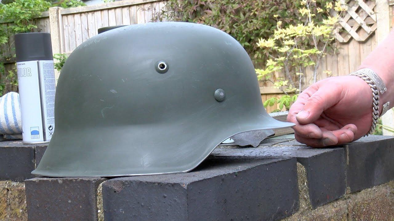 Re painting German helmets