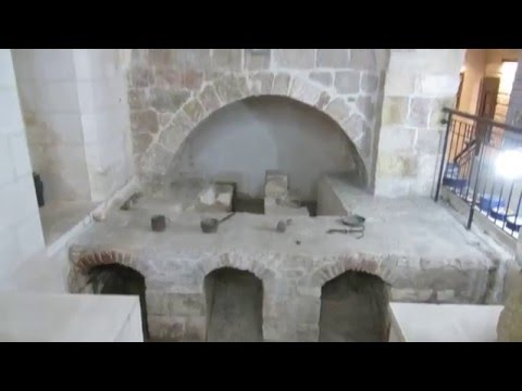 """A Turkish bath (hamam) in the Third Station of the """"Way of the Cross"""" (Via Dolorosa), Jerusalem"""