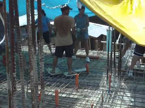 How to pour a cement floor in the Philippines Boracay 2010