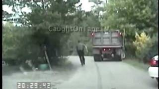SUSPECTED INTOXICATED DUMP TRUCK DRIVER CHASE!