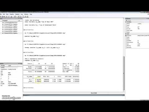 Summary of Interpreting a Regression Output from Stata