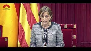 Forcadell: 'Visca la democràcia, visca el poble sobirà i visca la República Catalana!'