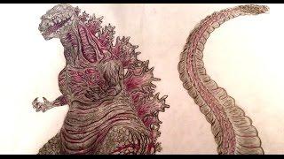 Shin Gojira Speed Drawing