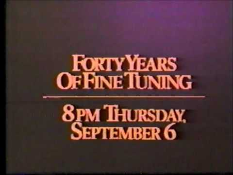 """WNEW """"Forty Years of Fine Tuning"""" Promo, 8/84"""