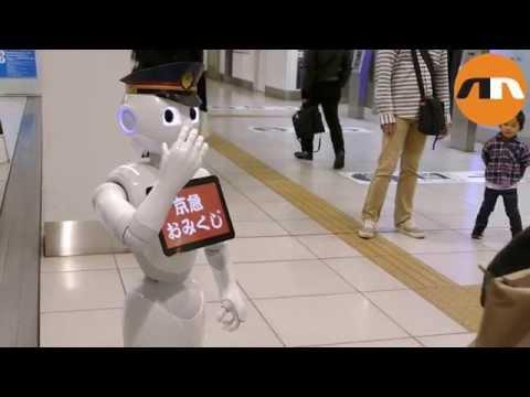 Pepper, el robot RRPP del aeropuerto de Madrid