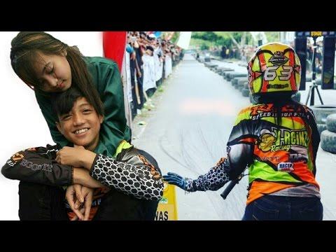 Cantiknya!! Wiwi Mungils Pake Helmnya Alvan Cebonk Joki Drag Bike Matic Mio