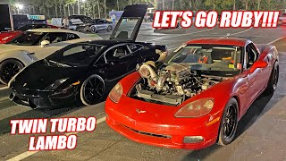 Ruby Fights For Her FIRST Competitive Win! FINALS With a Twin Turbo Lamborghini!