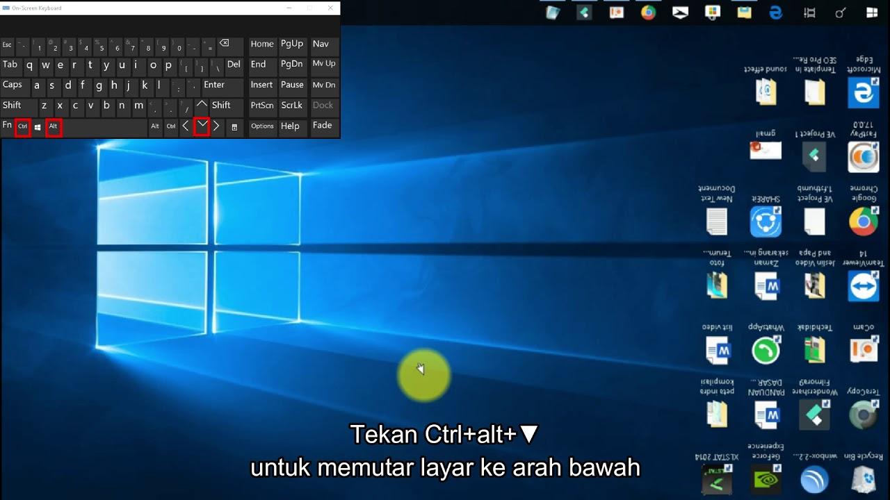 Cara Mengembalikan Layar Desktop Yang Terbalik Youtube