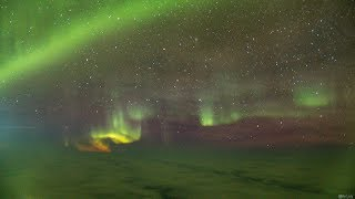 A Magical View Of The Aurora Borealis From 35 000ft 4K Timelapse