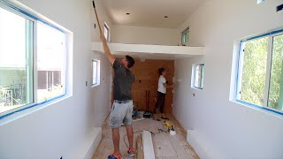 Painting The Tiny House... Super White!