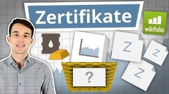 Zertifikate einfach erklärt! | Finanzlexikon
