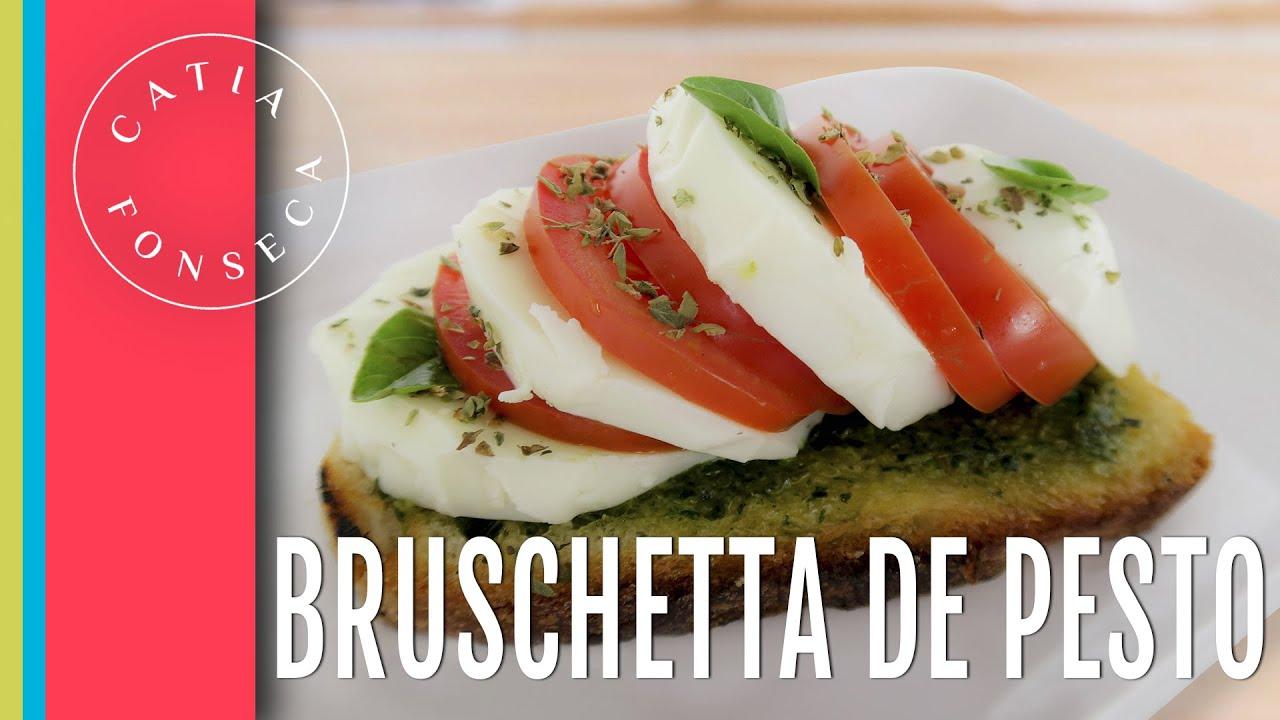 Como fazer: Bruschetta de pesto - Catia Fonseca