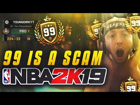 How Long Does It Take To Hit 99 OVR In NBA 2K19? 99 OVERALL IS A SCAM!