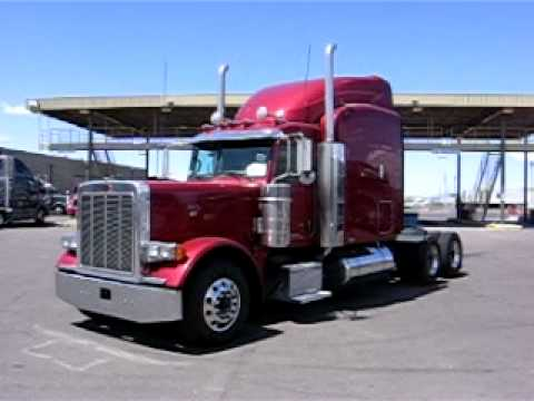2006 Peterbilt 379 127 Extended Hood (Maroon with Cat ...